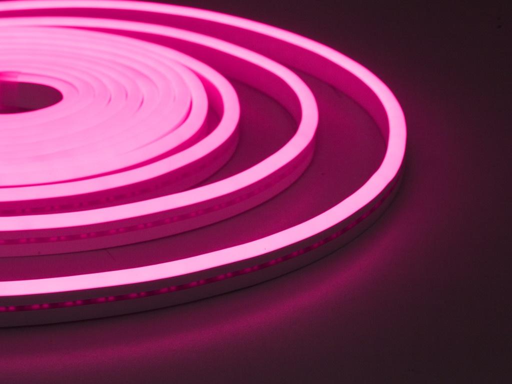 Светодиодная лента ELF NeonLine боковой изгиб 12V 5m IP 20 Pink ELF-NL-5-side-in-P
