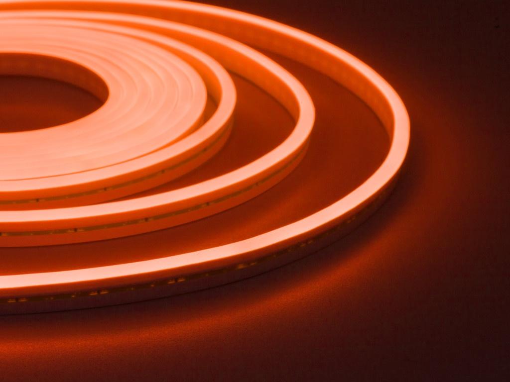 Светодиодная лента ELF NeonLine боковой изгиб 12V 5m IP 20 Orange ELF-NL-5-side-in-O