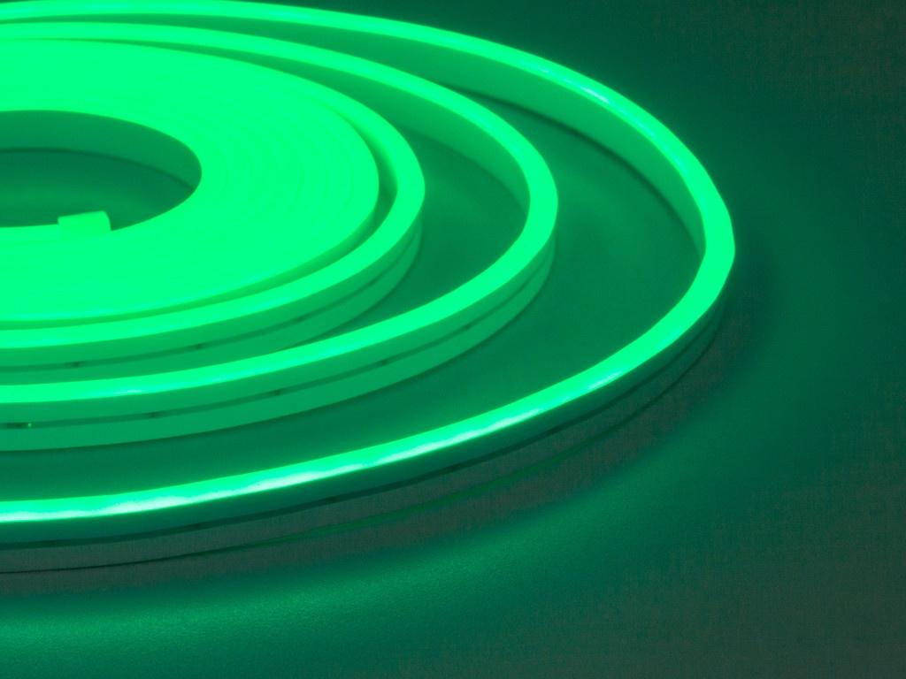 Светодиодная лента ELF NeonLine боковой изгиб 12V 5m IP 20 Green ELF-NL-5-side-in-G