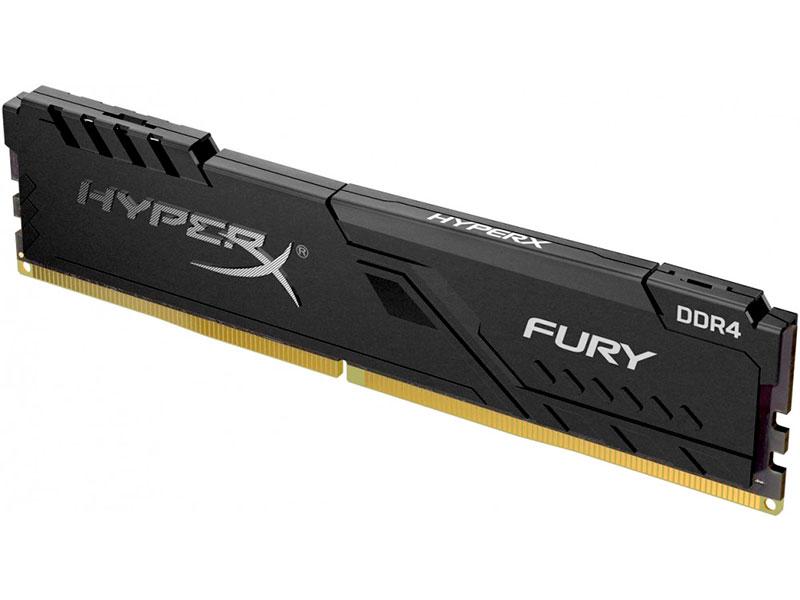 Модуль памяти HyperX Fury Black DDR4 DIMM 2666MHz PC4-21300 CL16 - 4Gb HX426C16FB3/4