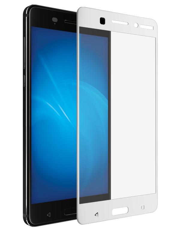 Закаленное стекло DF для Nokia 6 nkColor-01 White