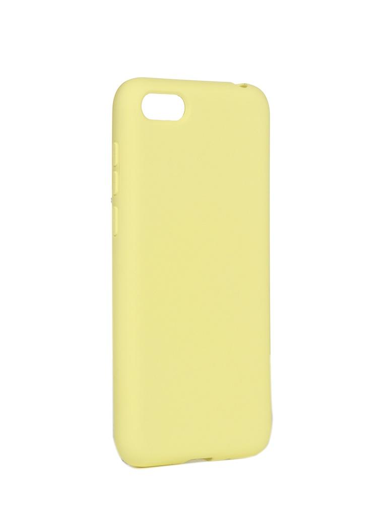 Чехол DF для Huawei Y5 (2018)/Y5 Prime (2018)/Honor 7A/Y5 Lite (2018) hwOriginal-07 Yellow