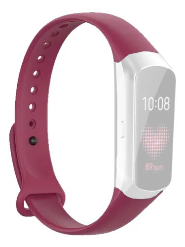 Aксессуар Ремешок DF для Samsung Galaxy Fit 0.95 sClassicband-01 Red