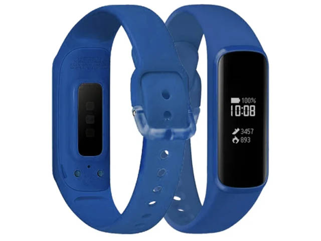 Aксессуар Ремешок DF для Samsung Galaxy Fit-e 0.74 sClassicband-02 Blue