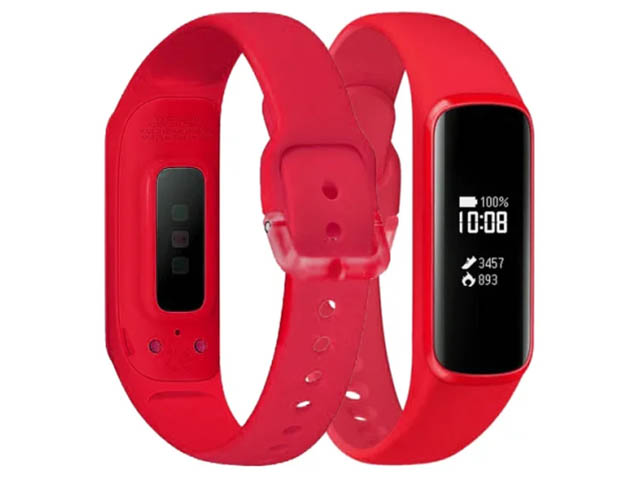 Aксессуар Ремешок DF для Samsung Galaxy Fit-e 0.74 sClassicband-02 Red