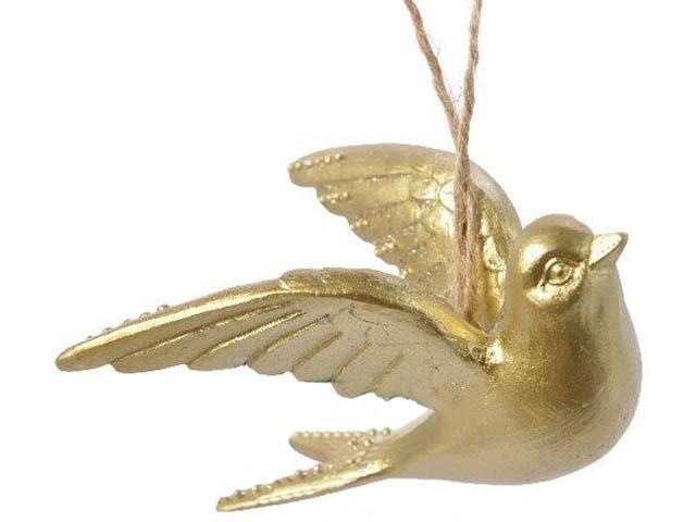 Украшение Kaemingk Золотая Ласточка 3x11x5x9.5cm 530327