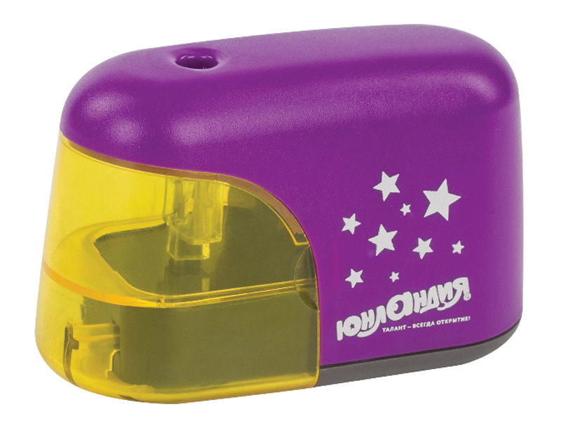 Точилка электрическая Юнландия Stars Violet 228425