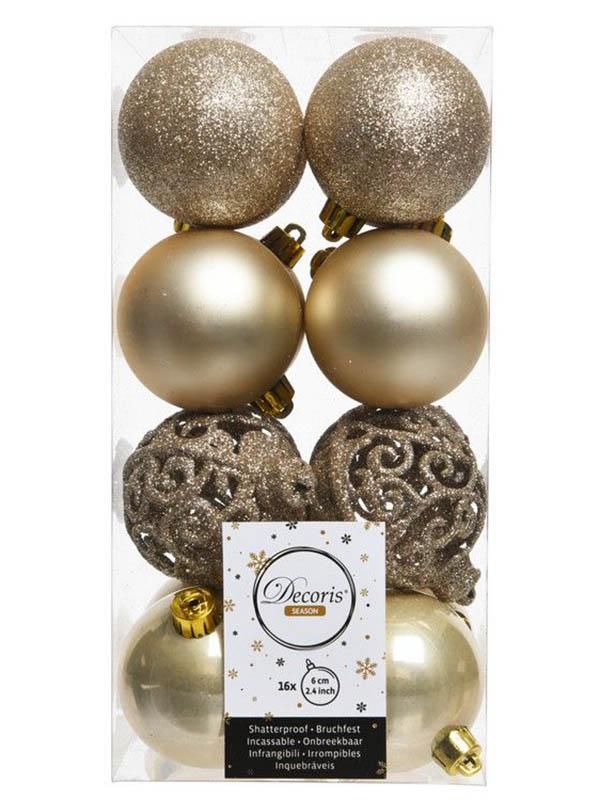 Kaemingk Набор шаров Ансамбль с Изюминкой 6cm 16шт Pearl 020856