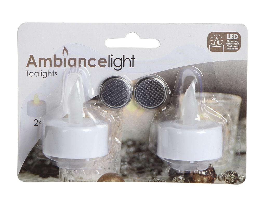 Светодиодная свеча Koopman International Класические Мерцающие 2шт 3.8х4.8cm White AX5990000