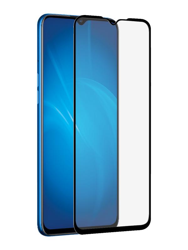 Закаленное стекло DF для Realme 5 rmColor-03 Black