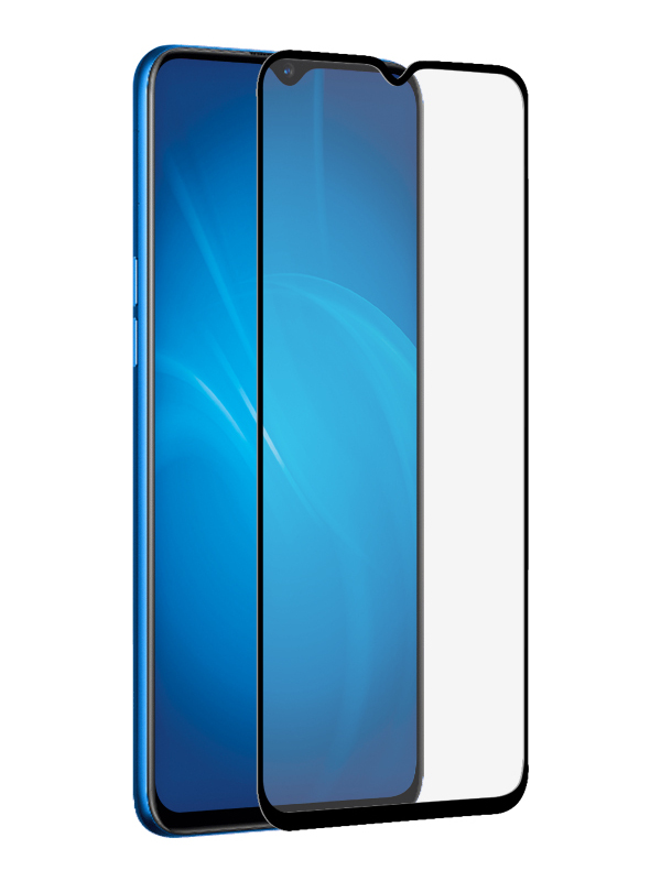 Закаленное стекло DF для Realme 5 Pro rmColor-04 Black