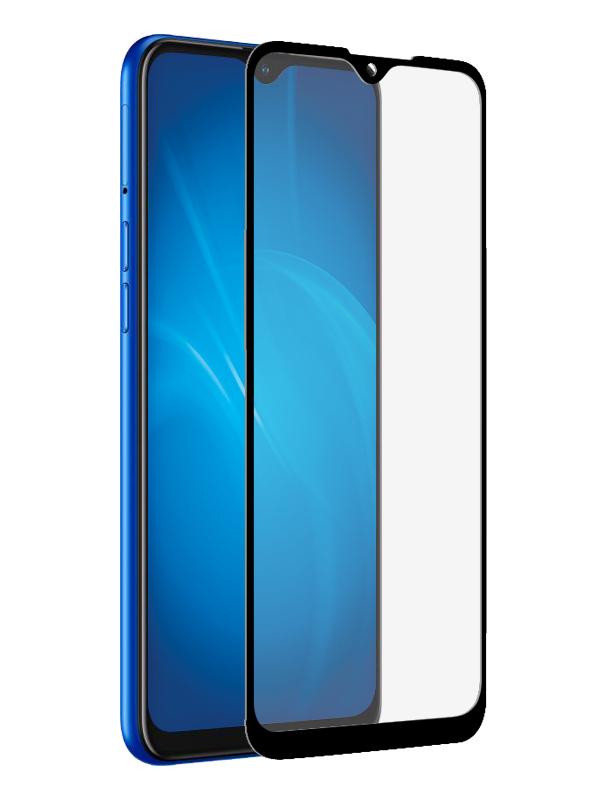 Закаленное стекло DF для Realme C2 rmColor-05 Black