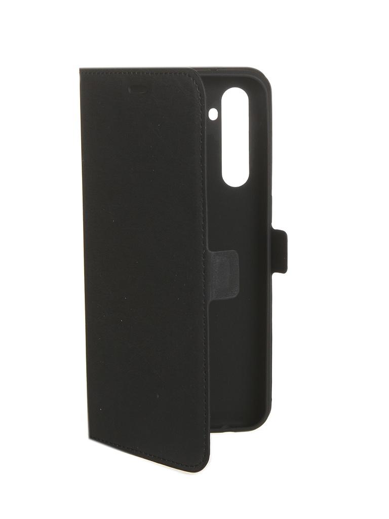 Чехол DF для Realme XT rmFlip-01 Black