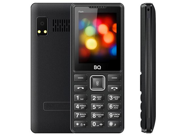 Сотовый телефон BQ 2444 Flash Black цена и фото