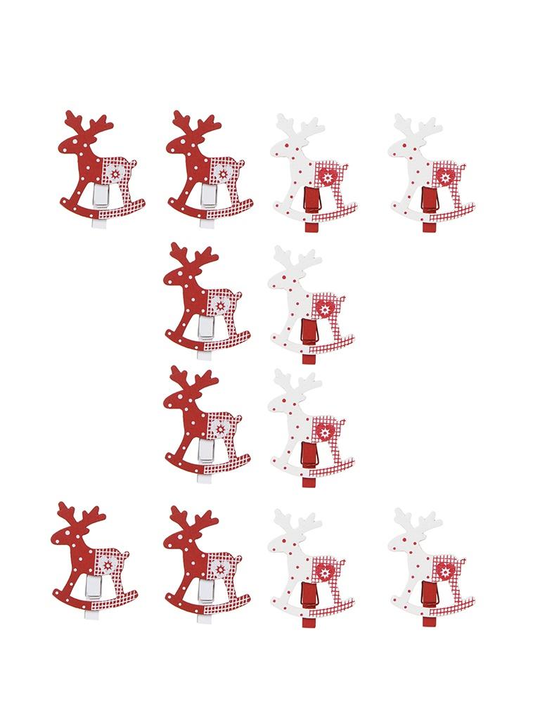 Украшение Breitner Набор Новогодние Олени 4.5cm 12шт XY3589