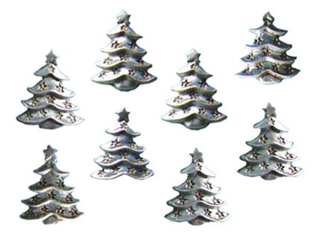 Украшение Breitner Набор Ёлочки Silver 3.5cm 10шт 14-2287