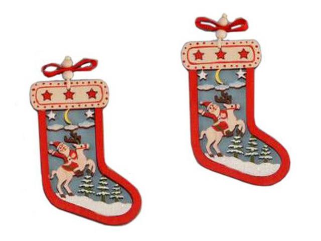 Украшение Breitner Санта в носочке 8cm XY6382