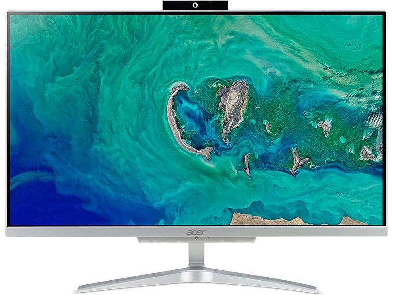 Моноблок Acer Aspire C24-865 Silver DQ.BBUER.015 (Intel Core i5-8250U 1.6 GHz/4096Mb/1000Gb + 128Gb SSD/Intel HD Graphics/Wi-Fi/Bluetooth/Cam/23.8/1920x1080/Windows 10 Home 64-bit) acer acer aspire r7 372t 13 3 intel core i5 8гб ram ssd wi fi bluetooth