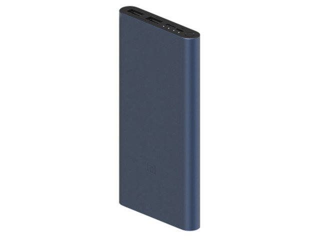 Внешний аккумулятор Xiaomi Mi Power Bank 3 10000mAh Type-c + 2USB Black PLM13ZM Fast Charge 18W