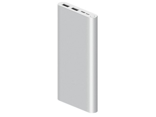 Внешний аккумулятор Xiaomi Mi Power Bank 3 10000mAh Type-c + 2USB Silver PLM13ZM Fast Charge 18W