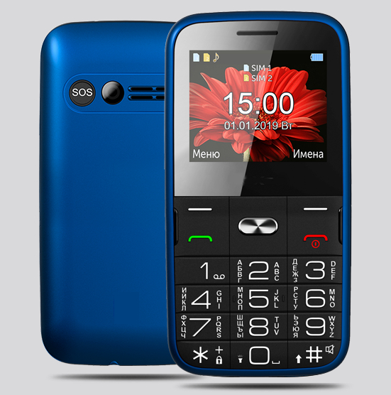 Сотовый телефон teXet TM-B227 Blue