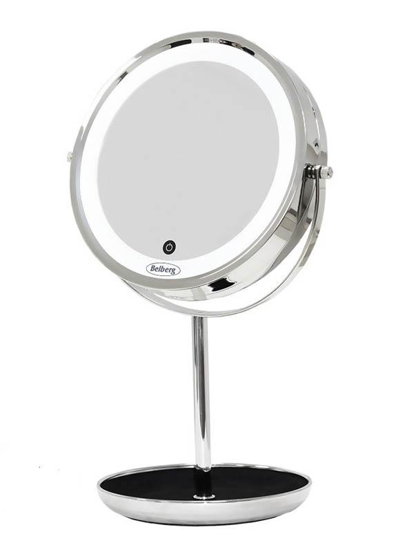 Зеркало косметическое Belberg BZ-04 с подсветкой и 7-ми кратным увеличением