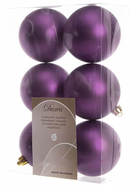 Украшение Kaemingk Набор шаров 80mm 6шт Violet 906428m