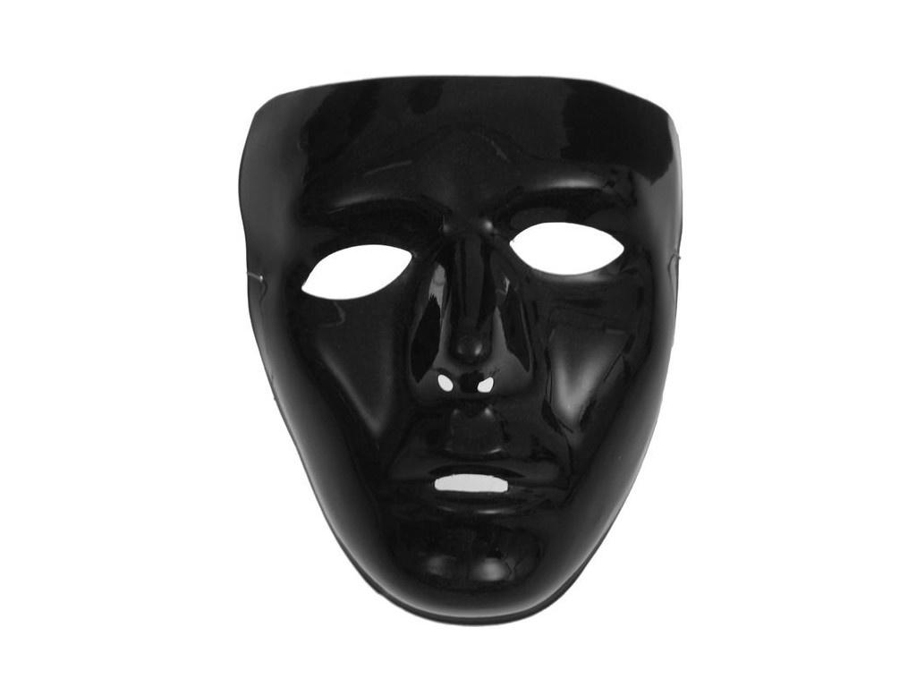 Карнавальная маска СмеХторг Лицо Black