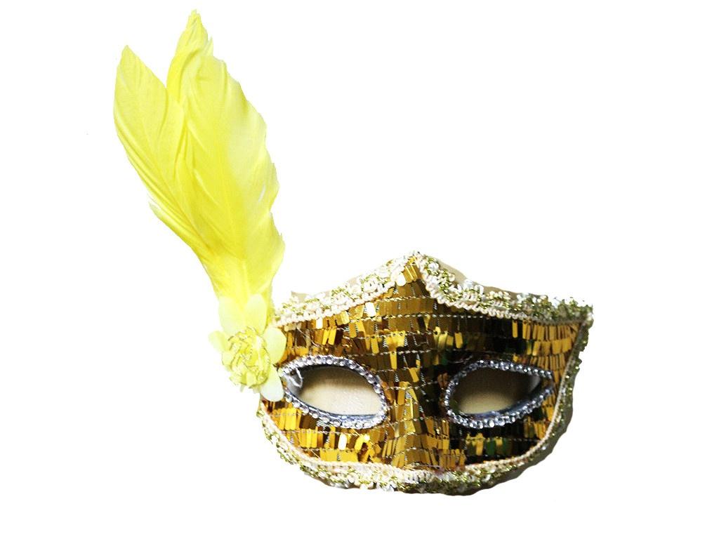 Маска карнавальная СмеХторг с перьями