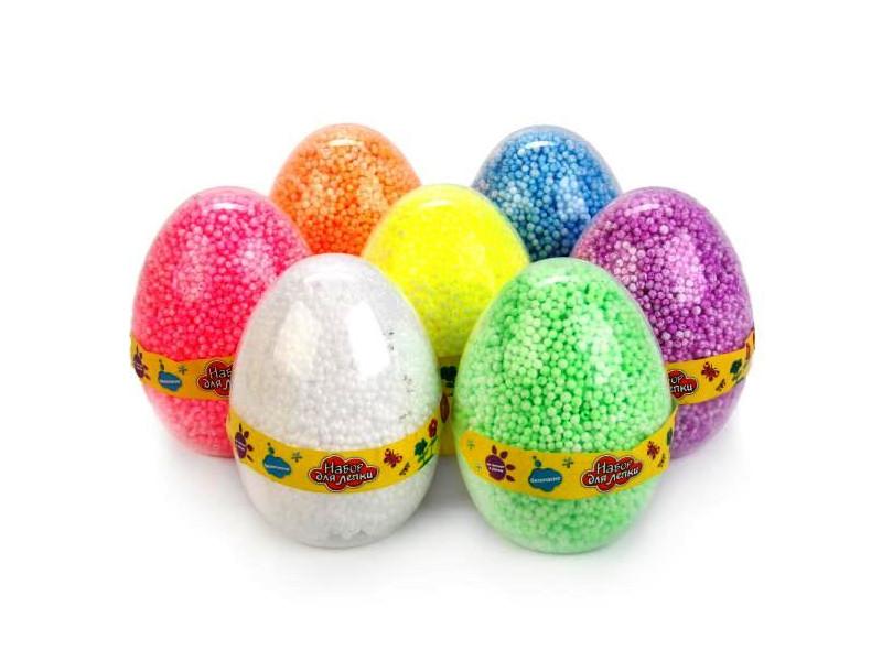 Набор для лепки СмеХторг Шариковый пластилин в яйце