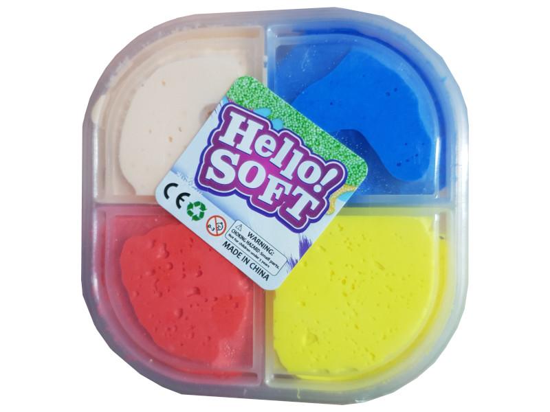 Набор для лепки СмеХторг Пластилин мялка, обычный 4 цвета