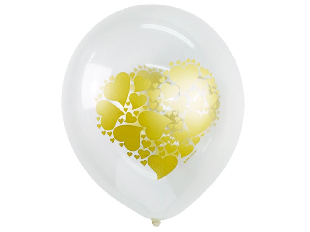 Набор воздушных шаров Поиск Сердце золото 30cm 25шт 6058517
