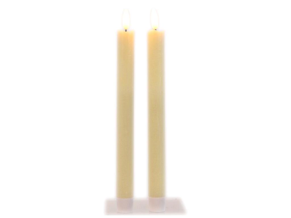 Светодиодная свеча Kaemingk Живая душа 2x24cm 2шт Cream 480019 светодиодная свеча star trading led t light 2шт silver 066 04