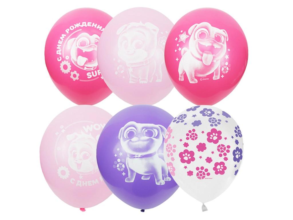 Набор воздушных шаров Поиск Дисней Мопсы 30cm 25шт 6060589