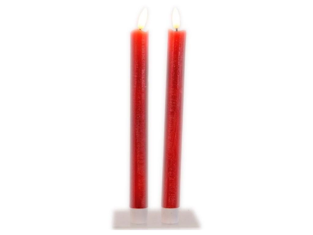 Светодиодная свеча Kaemingk Живая душа 2x24cm 2шт Red 480027