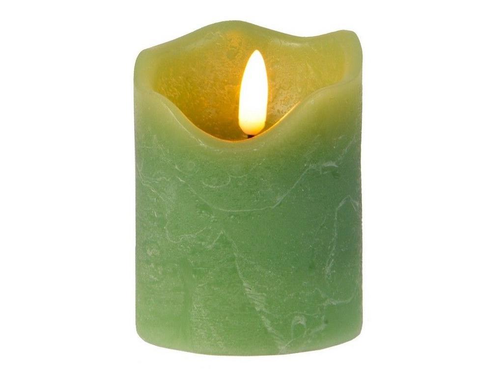 Светодиодная свеча Kaemingk Живая душа 7x9cm Eucalyptus 480040