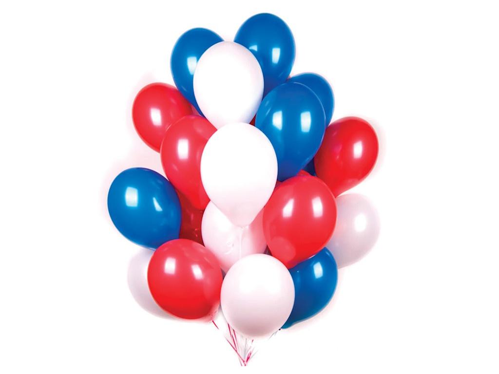 Набор воздушных шаров Поиск Триколор 30cm 30шт 4690296051006