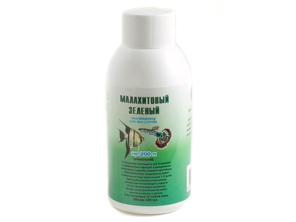 Средство Vladox Малахитовый 981699 - Кондиционер для аквариумной воды зелёный 100мл на 400л