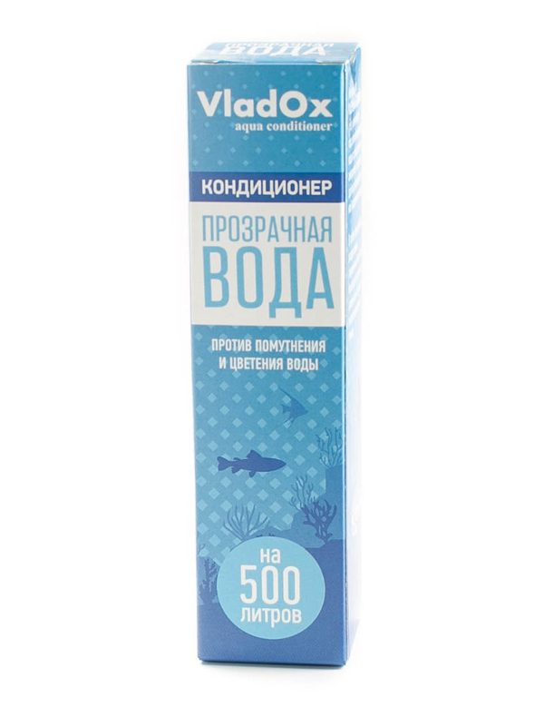 Средство Vladox Прозрачная вода 981576 - для очищения аквариумной воды 50мл на 500л