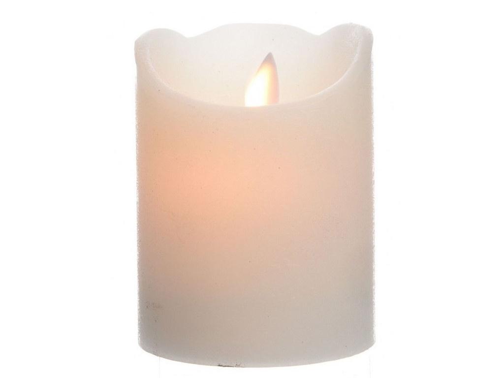 Светодиодная свеча Kaemingk Праздничная 7.5x10cm Cream 480613