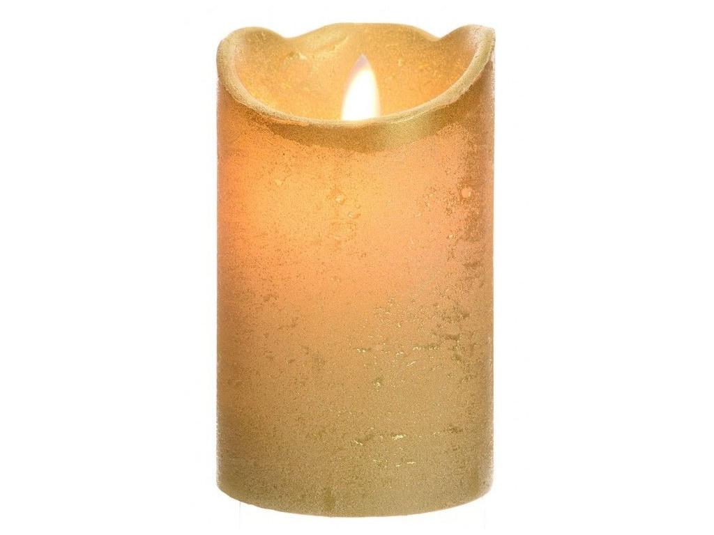 Светодиодная свеча Kaemingk Праздничная 7.5x12.5cm Gold 480610 миска псковский гончар праздничная