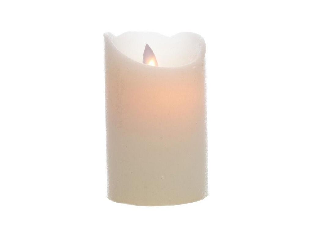 Светодиодная свеча Kaemingk Праздничная 7.5x15cm Cream 480599