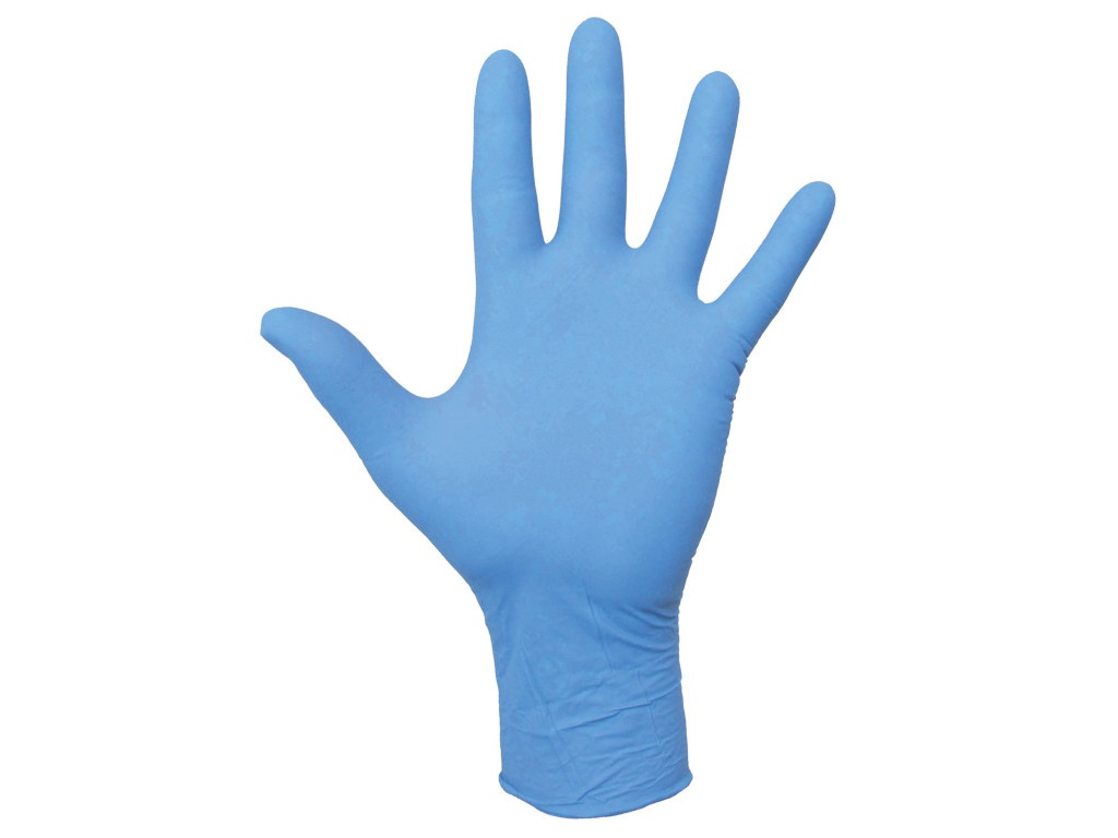 Перчатки нитриловые Лайма неопудренные, прочные 5