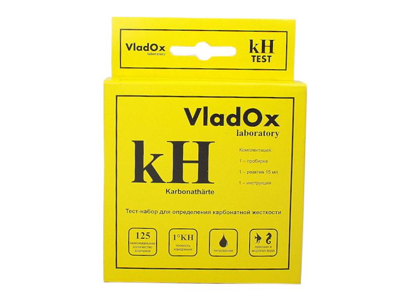 Средство Vladox kH тест 982306 - профессиональный набор для измерения карбонатной жесткости