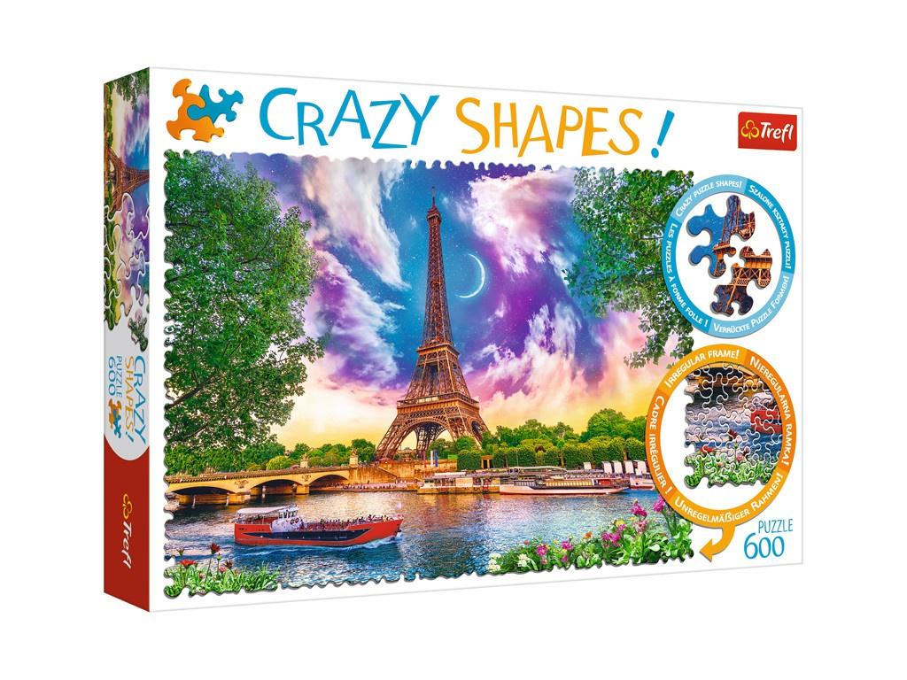 Пазл Trefl Crazy Shapes Небеса над Парижем 11115 цена в Москве и Питере