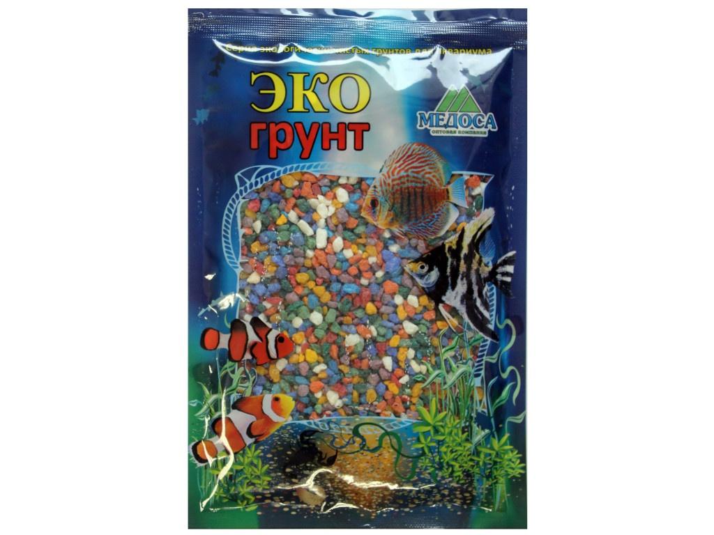 Средство Эко грунт Цветная мраморная крошка 2-5мм Микс 3.5кг г-1002