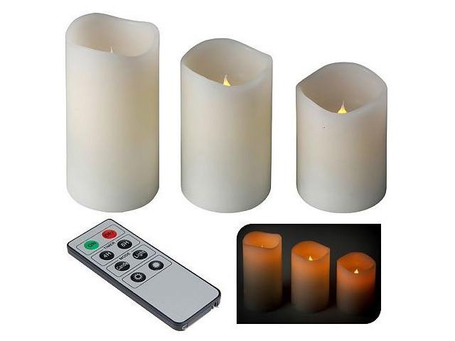 Светодиодная свеча Koopman International Восторг 3шт White ACA202000