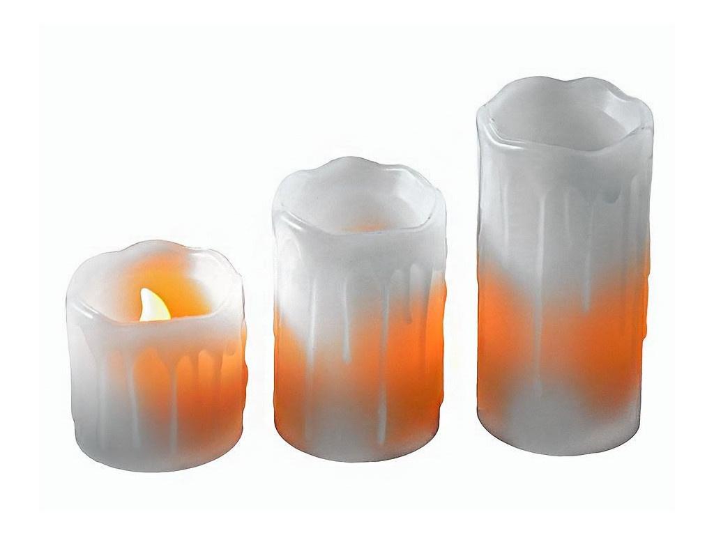 Светодиодная свеча Edelman Оплавленная 3шт White 372665
