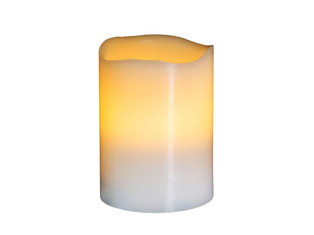 Светодиодная свеча Edelman 10x7.5cm White 106837