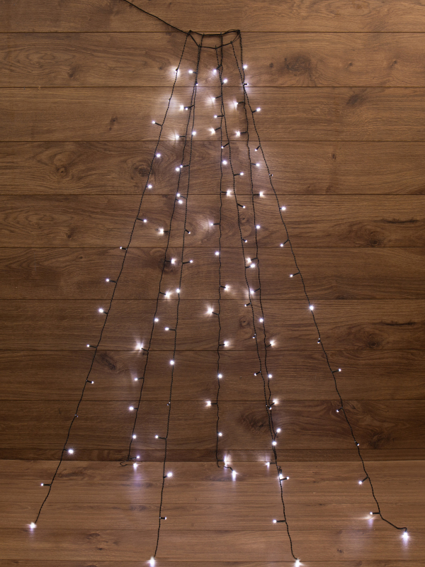 Гирлянда Neon-Night 7 нитей по 1.8m LED White 235-085